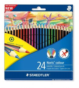 Staedtler Noris Colour 185 C24 Colouring Pencils - Assorted Colours (Pack of 24)